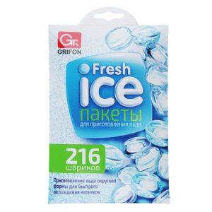 Пакет для заморозки льда 216 кубиков/55/Грифон