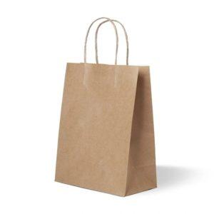 Пакет бумажный с кручеными ручками350*150*450 крафт70/175/