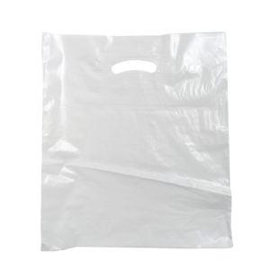 Пакет с проб. ручкой  Мегапласт белая 35/40 65мкм (50шт)