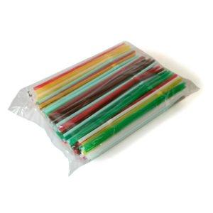 Трубочки для коктейля с изгибом цветные /250/48/(0,5*21)