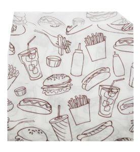 Пакет-уголок бум. с печатью 175*140(д/бургер, гамбургеров)/2000/ Альт-Пак