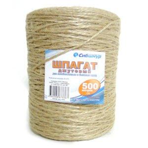 Шпагат джутовый 2-х нит.(500м) 1 кг /1/