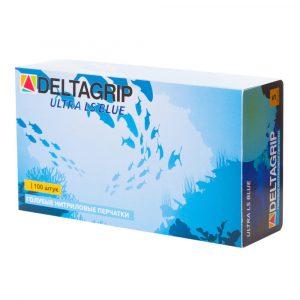 Перчатки неопудренные  нитрил синие, L /50пар/500/GWARD DELTAGRIP